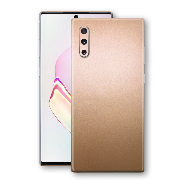 Samsung Galaxy NOTE 10 Luxuria Rose Gold Metallic Skin Wrap Decal Protector | EasySkinz