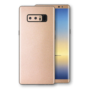 Samsung Galaxy NOTE 8 Luxuria Rose Gold Metallic Skin Wrap Decal Protector | EasySkinz