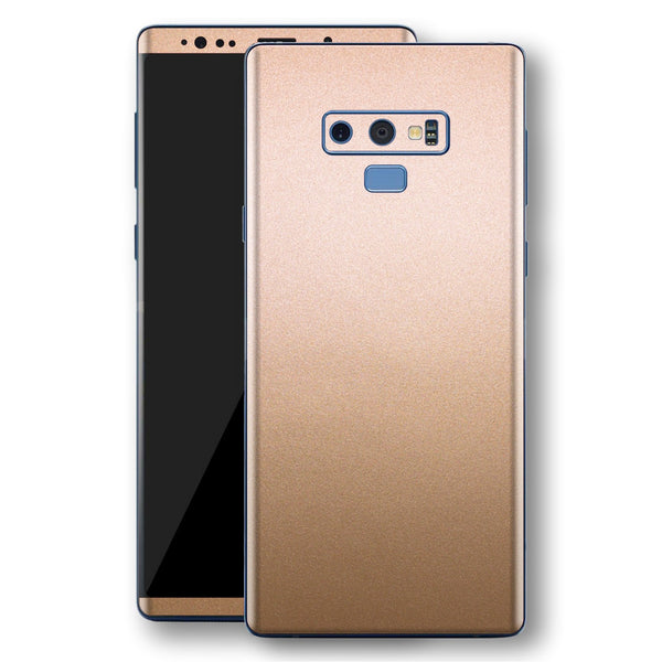 Samsung Galaxy NOTE 9 Luxuria Rose Gold Metallic Skin Wrap Decal Protector | EasySkinz