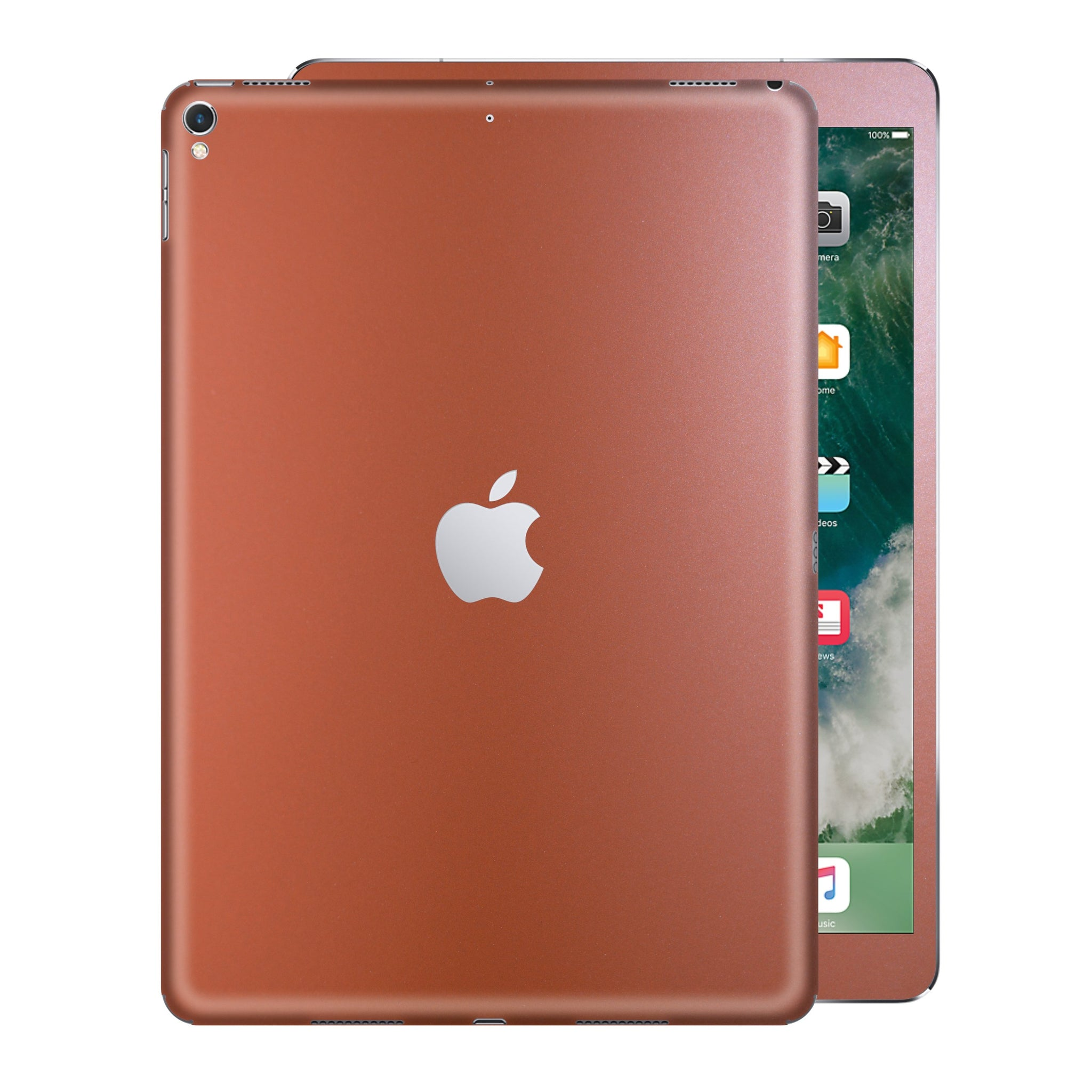 iPad PRO 12.9 inch 2017 Matt Matte Rose Gold Metallic Skin Wrap Sticker Decal Cover Protector by EasySkinz