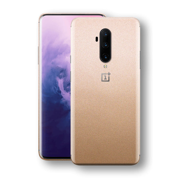 OnePlus 7T PRO Luxuria Rose Gold Metallic Skin Wrap Decal Protector | EasySkinz