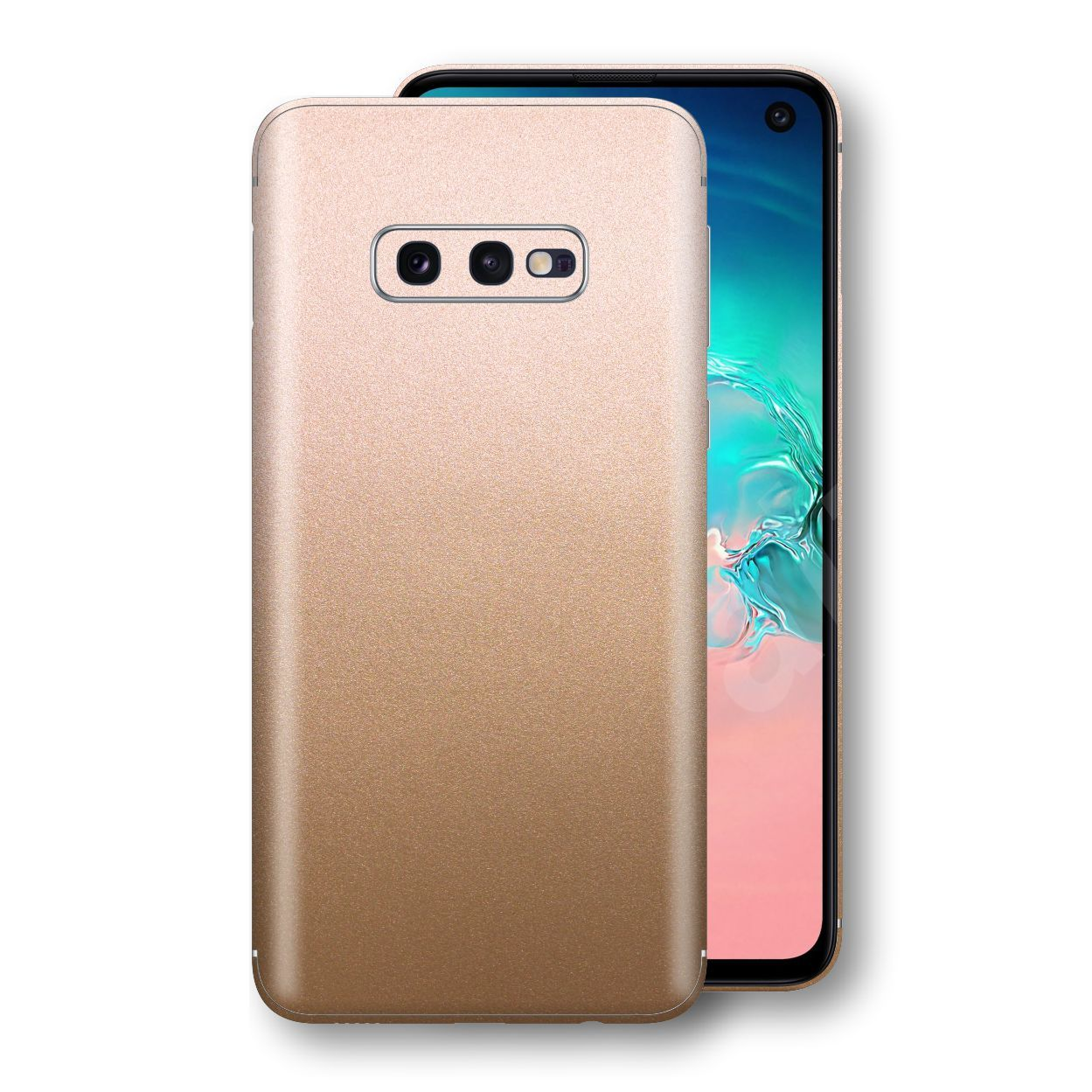Samsung Galaxy S10e Luxuria Rose Gold Metallic Skin Wrap Decal Protector | EasySkinz