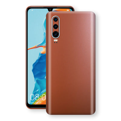 Huawei P30 Rose Gold Matt Metallic Skin, Decal, Wrap, Protector, Cover by EasySkinz | EasySkinz.com