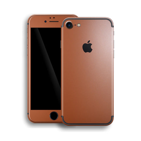iPhone 7 Rose Gold Matt Matte Metallic Skin, Wrap, Decal, Protector, Cover by EasySkinz | EasySkinz.com