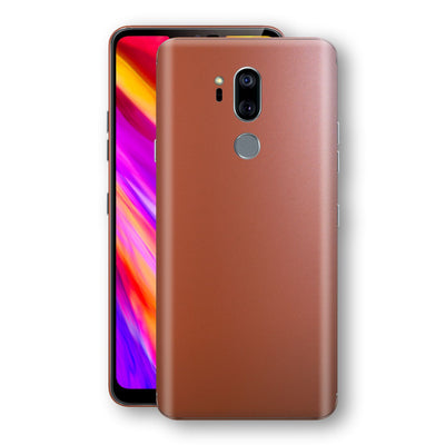 LG G7 ThinQ Rose Gold Matt Metallic Skin, Decal, Wrap, Protector, Cover by EasySkinz | EasySkinz.com