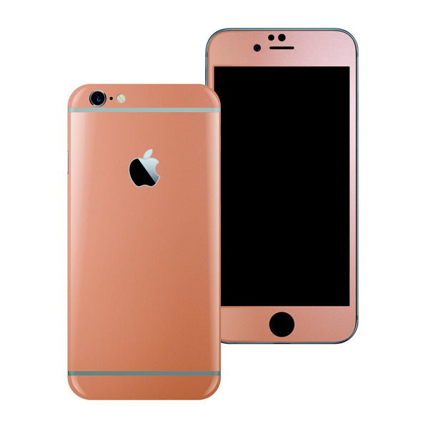 iPhone 6S Rose Gold Matt Matte Metallic Skin Wrap Sticker Cover Protector Decal by EasySkinz
