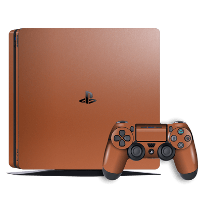 Playstation 4 SLIM PS4 Slim Rose Gold Matt Metallic Skin Wrap Decal by EasySkinz