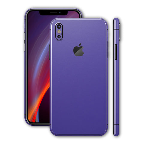 iPhone X Royal Purple Matt Matte Skin, Wrap, Decal, Protector, Cover by EasySkinz | EasySkinz.com