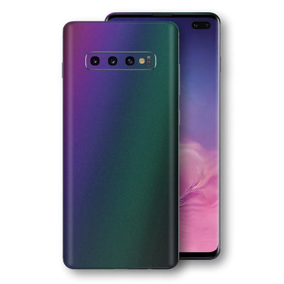 Samsung Galaxy S10+ PLUS Chameleon DARK OPAL Skin Wrap Decal Cover by EasySkinz