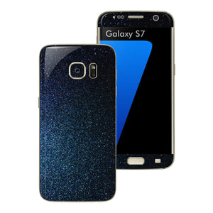 Samsung Galaxy S7 Glossy 3M Midnight Blue Metallic Skin Wrap Decal Sticker Cover Protector by EasySkinz