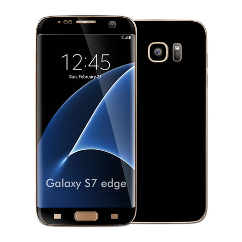 Samsung Galaxy S7 EDGE Deep Black Matt Skin Wrap Decal Cover by EASYSKINZ