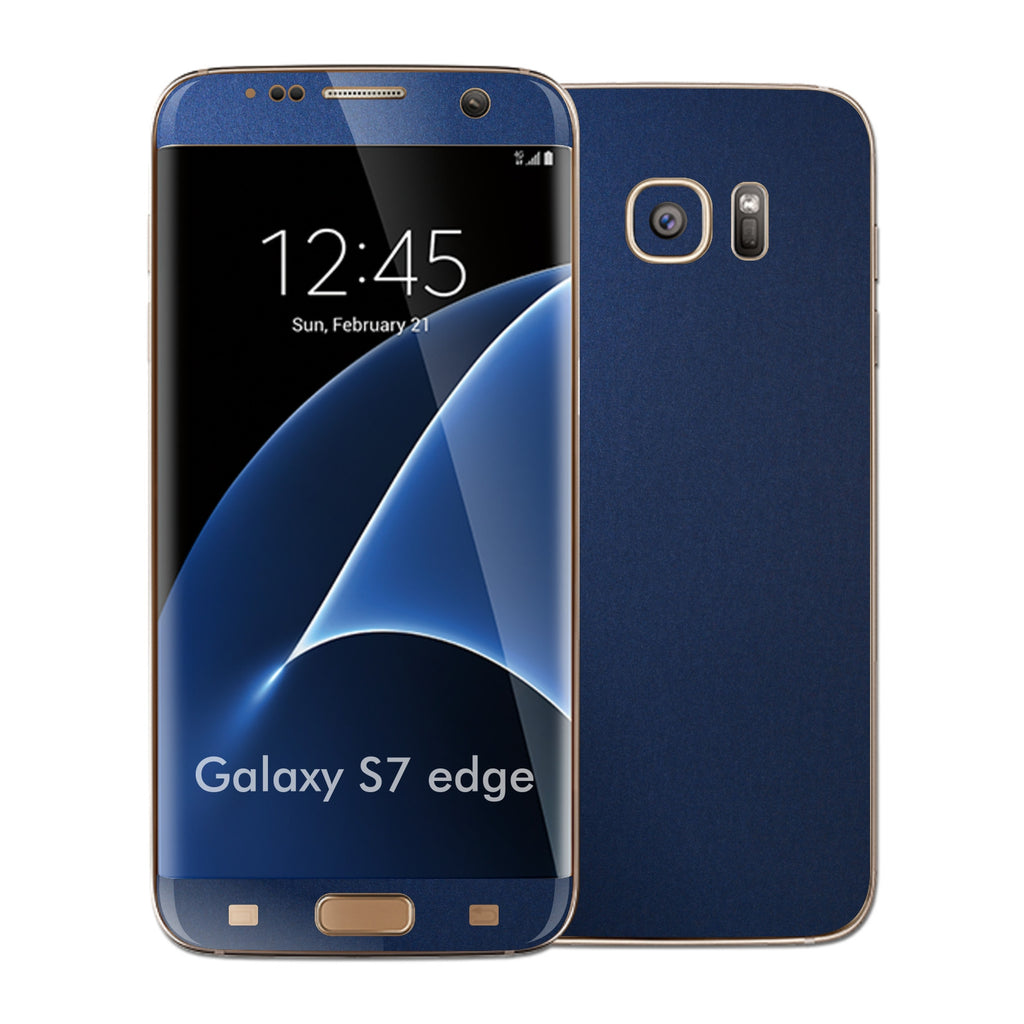 Samsung Galaxy S7 EDGE Deep Ocean Blue Matt Skin Wrap Decal Cover by EASYSKINZ