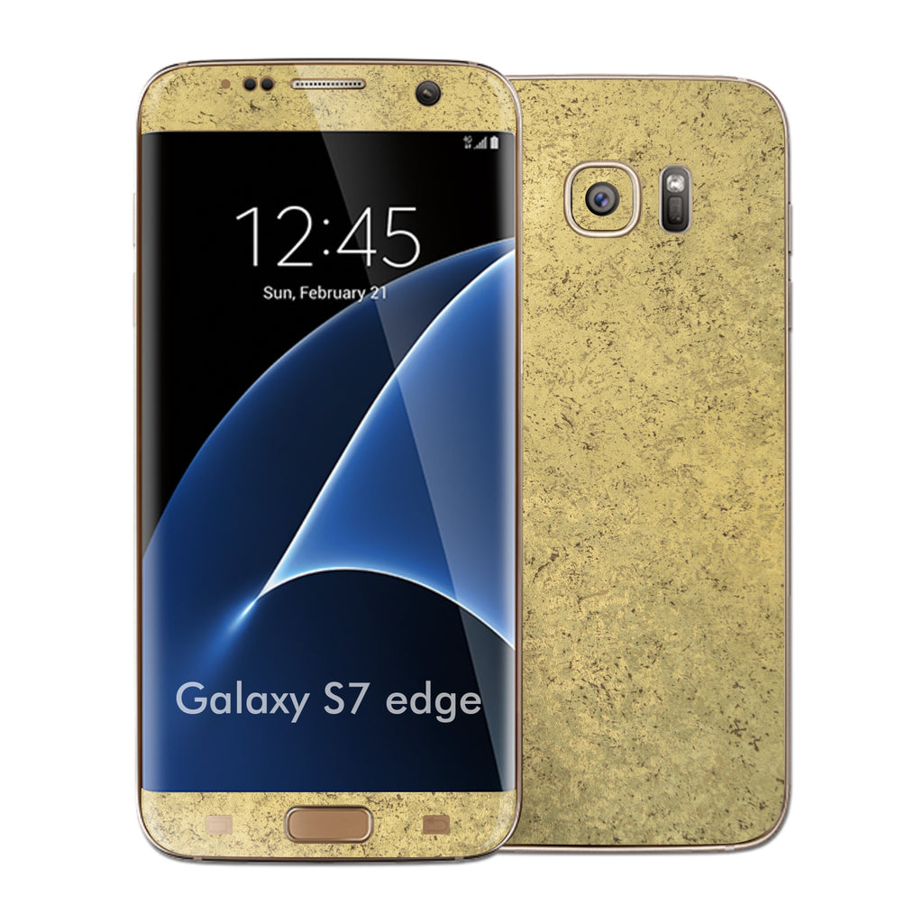 Samsung Galaxy S7 EDGE Luxuria Old Egyptian Gold Skin Wrap Decal Cover by EASYSKINZ