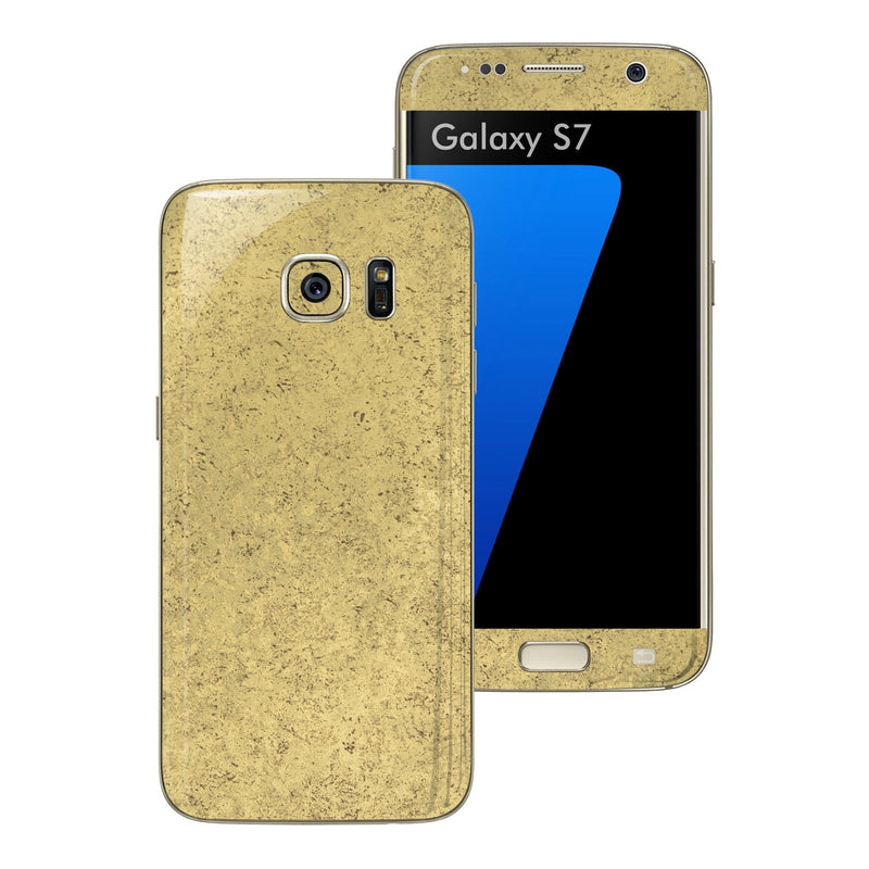 Samsung Galaxy S7 Luxuria Old Egyptian Gold Skin Wrap Decal Cover by EASYSKINZ