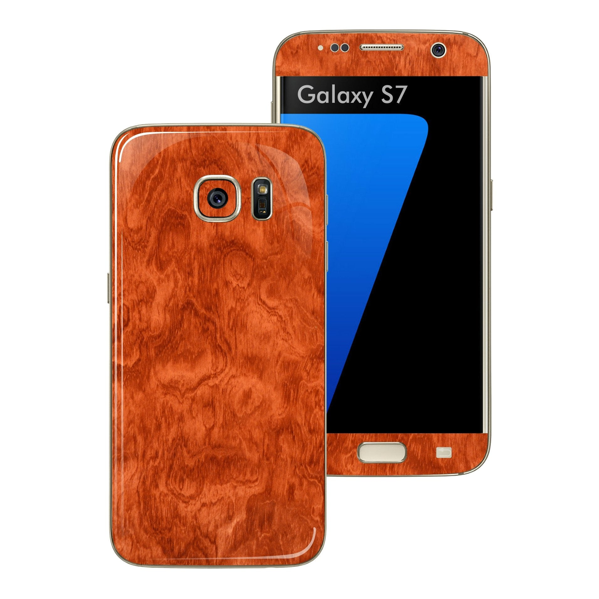 Samsung Galaxy S7 Luxuria Mahogany Wood Wooden Glossy Skin Wrap Decal Cover by EASYSKINZ