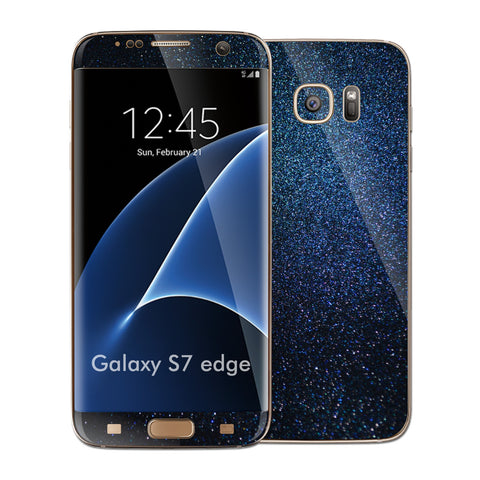 Samsung Galaxy S7 EDGE Glossy Midnight Blue Metallic Skin Wrap Decal Cover by EASYSKINZ