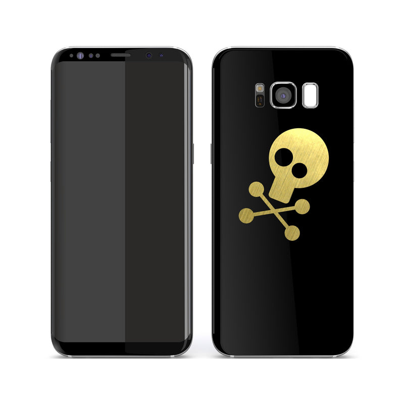 Samsung Galaxy S8+ SKULL Custom Design Matt White Skin Wrap Decal Protector Cover | EasySkinz