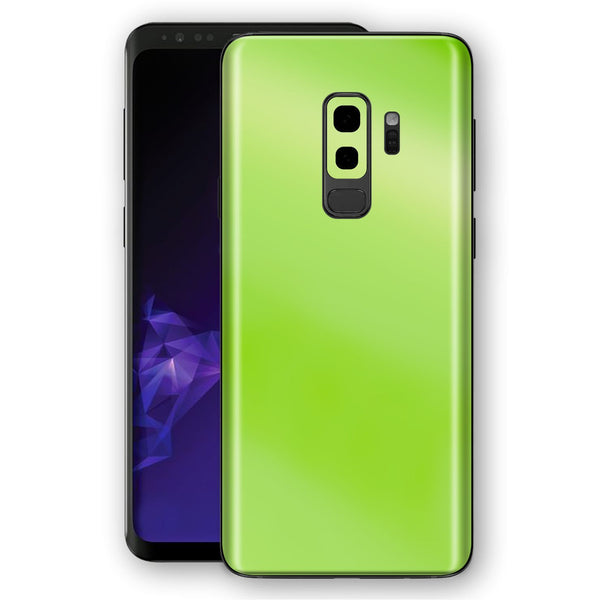 Samsung GALAXY S9+ PLUS Apple Green Pearl Gloss Finish Skin, Decal, Wrap, Protector, Cover by EasySkinz | EasySkinz.com