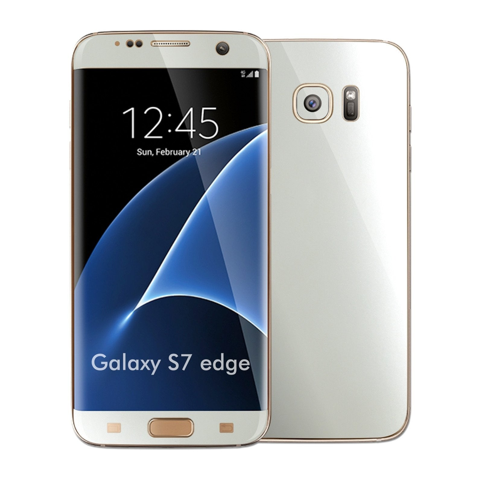 Samsung Galaxy S7 EDGE 3M Satin Pearl White Skin Wrap Decal Sticker Cover Protector by EasySkinz
