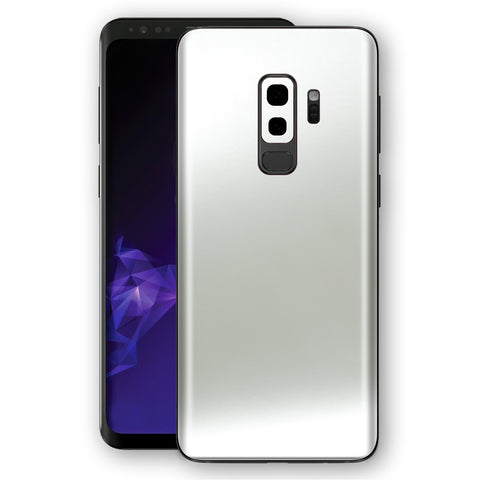 Samsung GALAXY S9+ PLUS SATIN PEARL WHITE Skin, Decal, Wrap, Protector, Cover by EasySkinz | EasySkinz.com