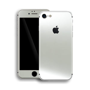 iPhone 8 Satin Pearl White Matt Matte Skin, Wrap, Decal, Protector, Cover by EasySkinz | EasySkinz.com