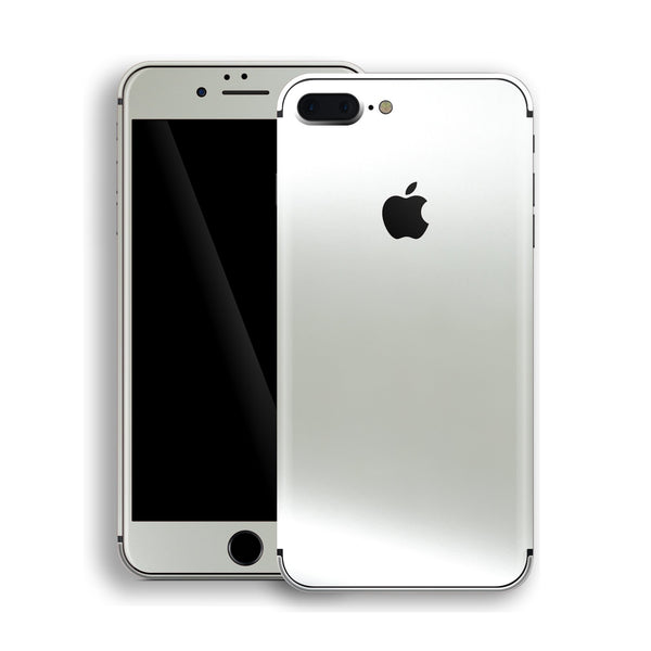 iPhone 8 Plus Satin Pearl White Matt Skin, Decal, Wrap, Protector, Cover by EasySkinz | EasySkinz.com