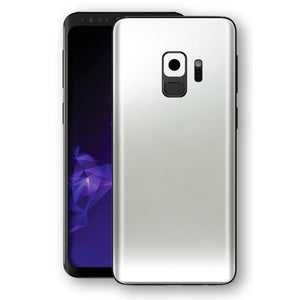 Samsung GALAXY S9 SATIN PEARL WHITE Skin, Decal, Wrap, Protector, Cover by EasySkinz | EasySkinz.com