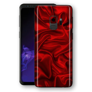 Samsung Galaxy S9 Signature SATIN red Skin, Decal, Wrap, Protector, Cover by EasySkinz | EasySkinz.com
