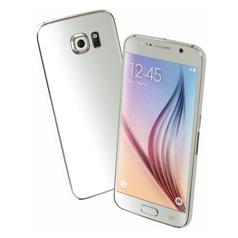 Samsung Galaxy S6 3M Satin Pearl White Skin Wrap Sticker Cover Protector Decal by EasySkinz
