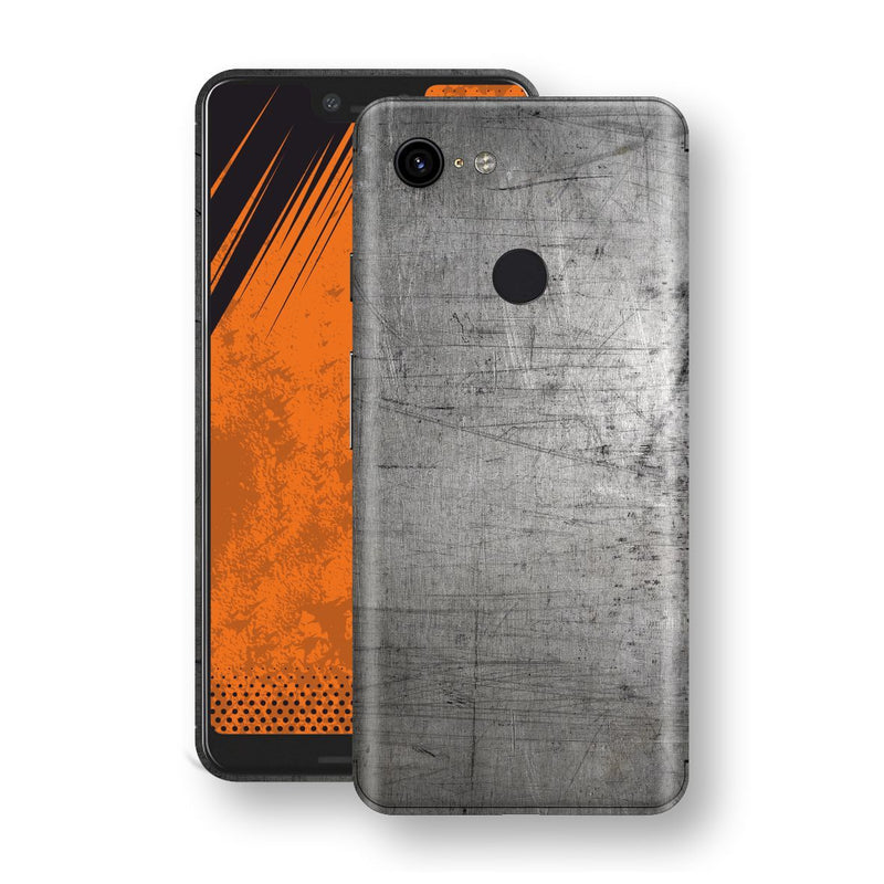 Google Pixel 3 XL Print Custom Signature Industrial Scratched Worn Metal Skin Wrap Decal by EasySkinz