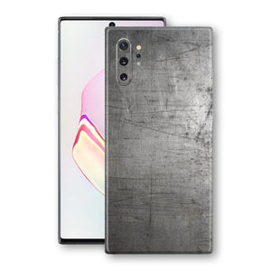Samsung Galaxy NOTE 10+ PLUS Print Custom Signature Industrial Scratched Worn Metal Skin Wrap Decal by EasySkinz