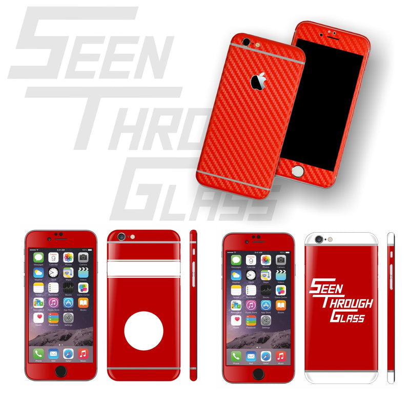 Seen Through Glass Special Set Custom Skin Cover Protector for iPhone