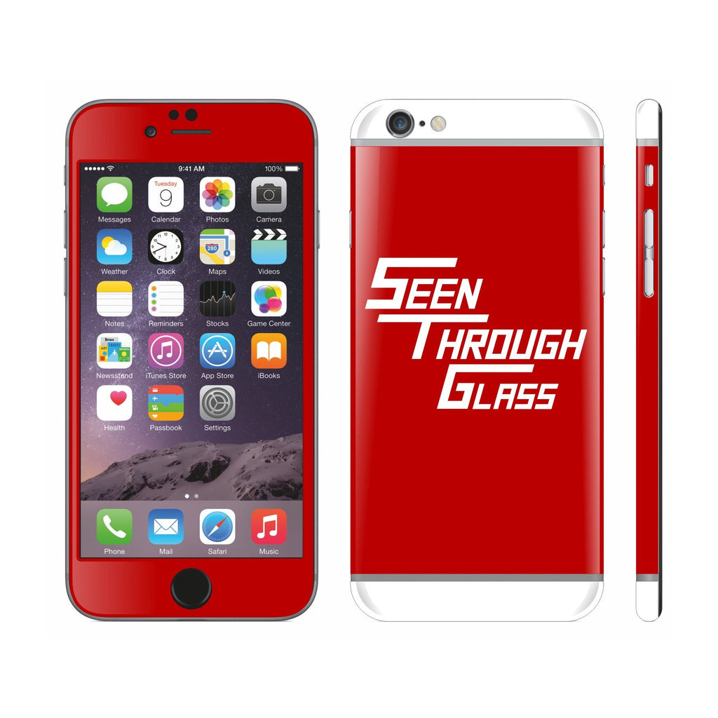 Seen Through Glass Special Logo Custom Skin Cover Protector for iPhone