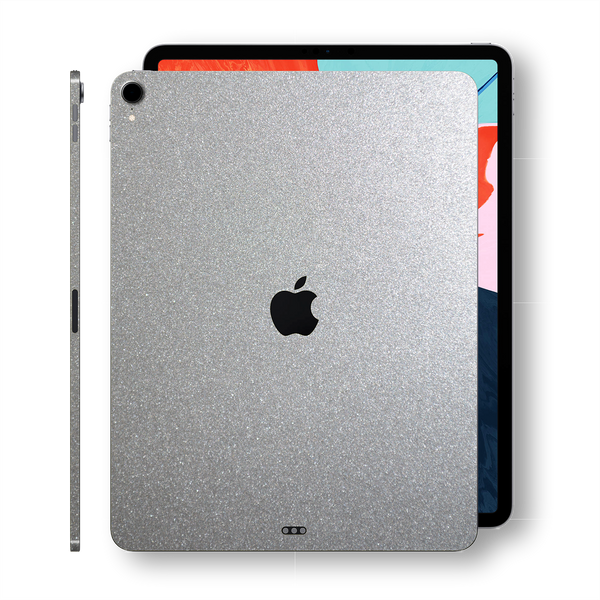 iPad PRO 11-inch 2018 Glossy SILVER Metallic Skin Wrap Sticker Decal Cover Protector by EasySkinz