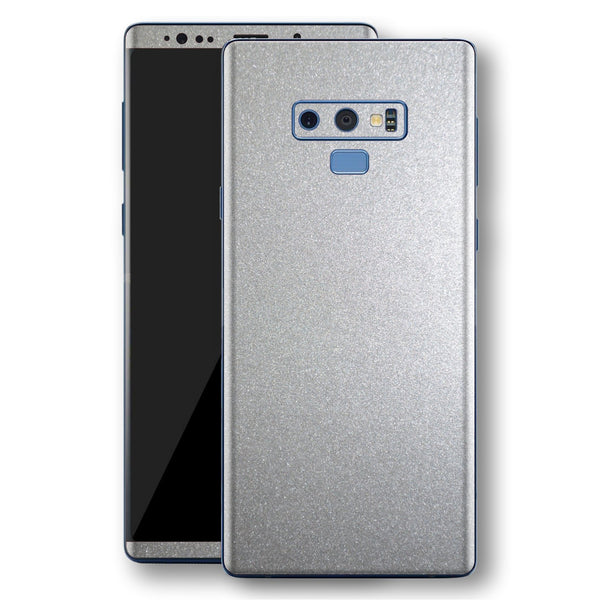 Samsung Galaxy NOTE 9 Silver Glossy Metallic Skin, Decal, Wrap, Protector, Cover by EasySkinz | EasySkinz.com