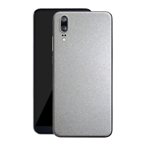 Huawei P20 Glossy Silver Metallic Skin, Decal, Wrap, Protector, Cover by EasySkinz | EasySkinz.co
