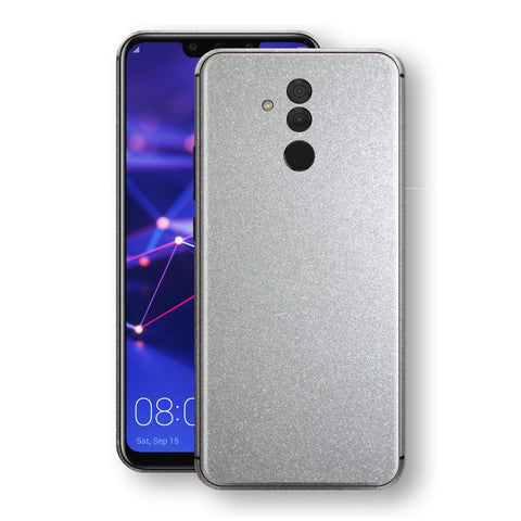 Huawei MATE 20 LITE Silver Glossy Metallic Skin, Decal, Wrap, Protector, Cover by EasySkinz | EasySkinz.com