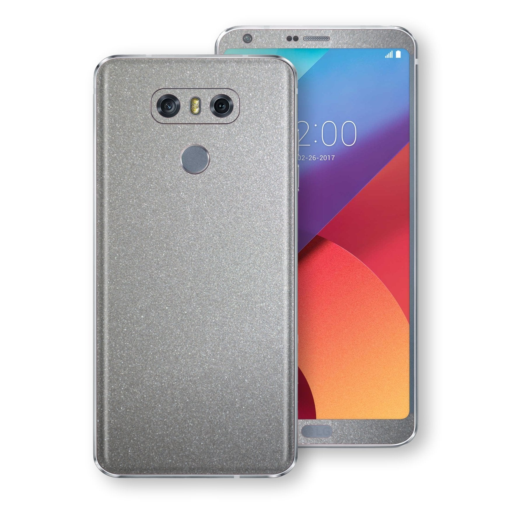 LG G6 Silver Glossy Metallic Skin, Decal, Wrap, Protector, Cover by EasySkinz | EasySkinz.com