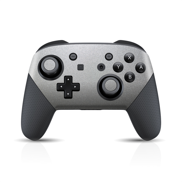 Nintendo Switch Pro Controller SILVER Metallic Skin Wrap Sticker Decal Cover Protector by EasySkinz