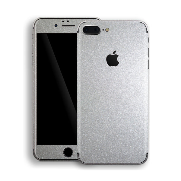 iPhone 8 Plus Silver Glossy Metallic Skin, Decal, Wrap, Protector, Cover by EasySkinz | EasySkinz.com
