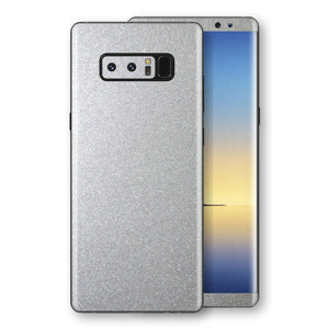 Samsung Galaxy NOTE 8 Silver Glossy Metallic Skin, Decal, Wrap, Protector, Cover by EasySkinz | EasySkinz.com