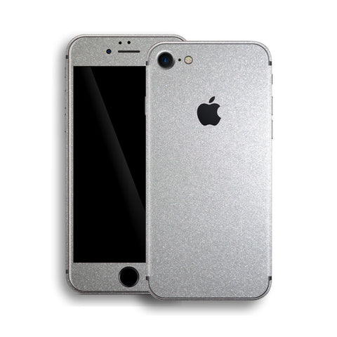 iPhone 8 Silver Metallic Glossy Skin, Wrap, Decal, Protector, Cover by EasySkinz | EasySkinz.com