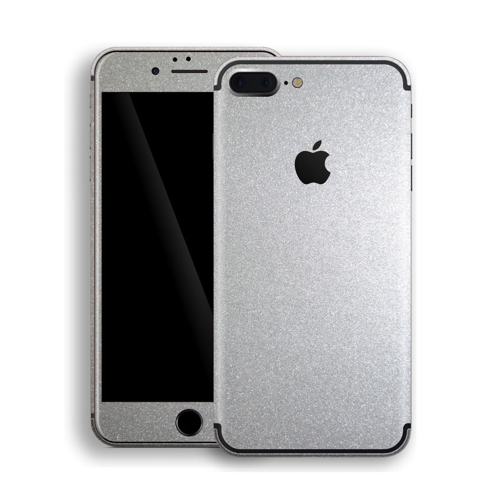 iPhone 7 Plus Silver Glossy Metallic Skin, Decal, Wrap, Protector, Cover by EasySkinz | EasySkinz.com