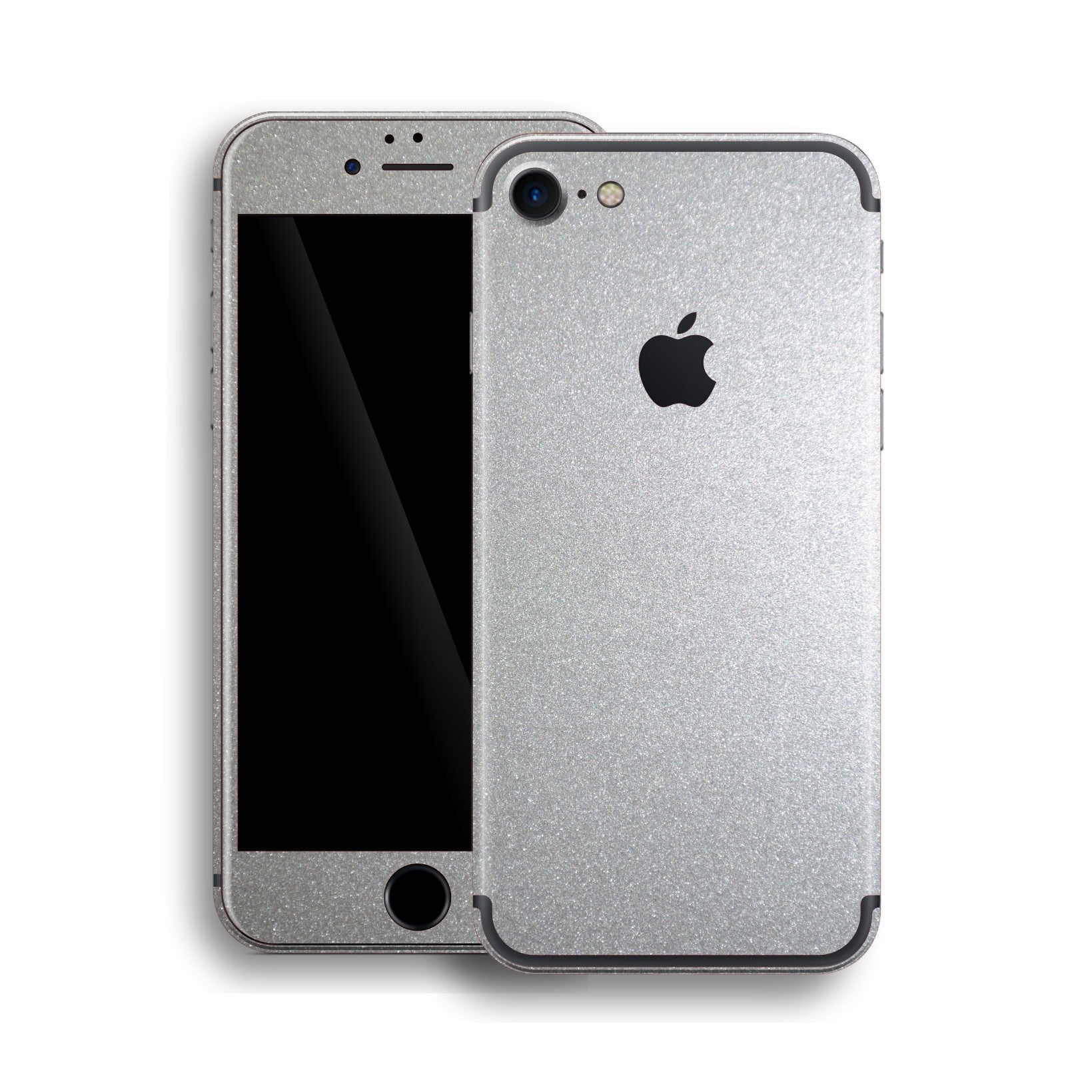 iPhone 7 Silver Metallic Glossy Skin, Wrap, Decal, Protector, Cover by EasySkinz | EasySkinz.com