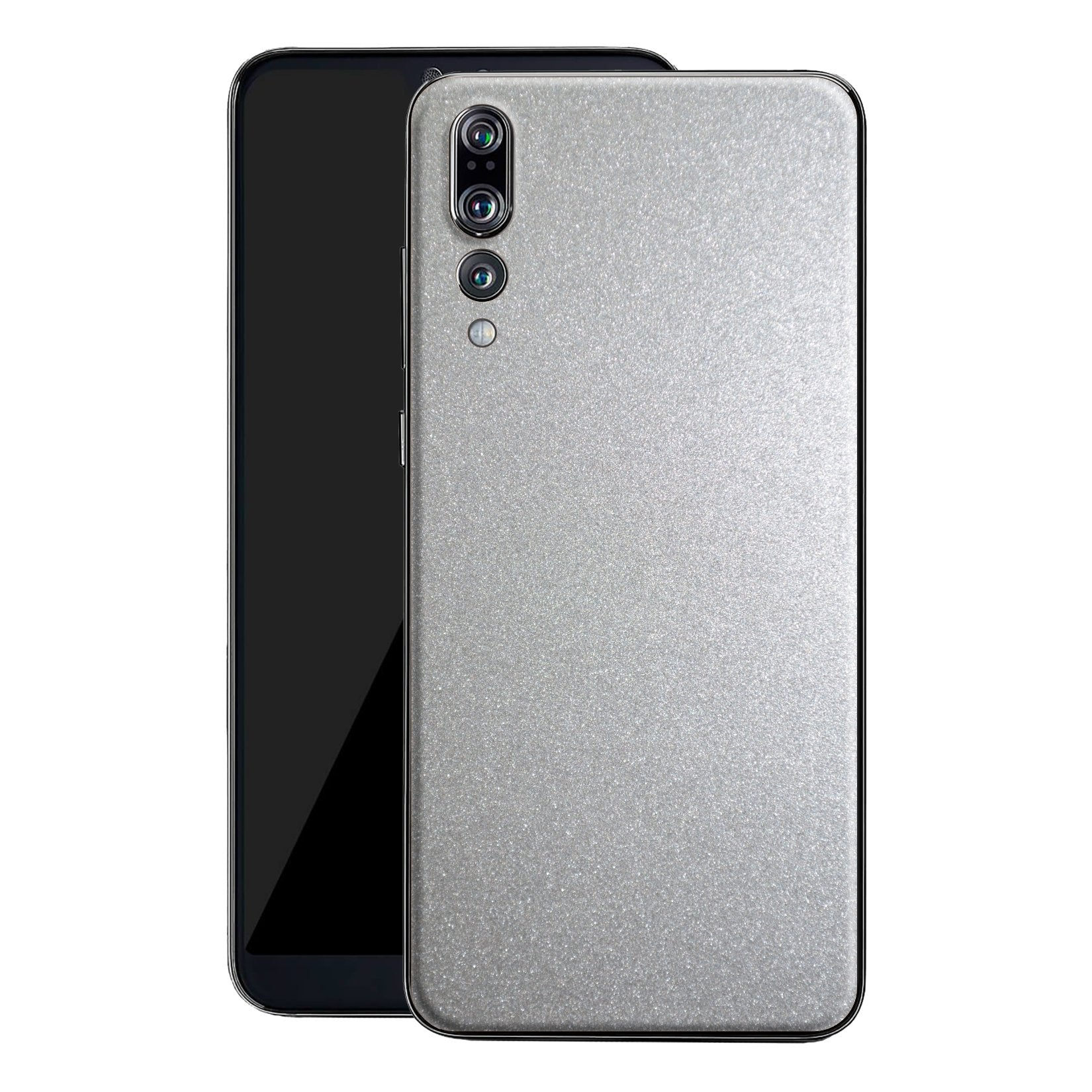 Huawei P20 PRO Glossy Silver Metallic Skin, Decal, Wrap, Protector, Cover by EasySkinz | EasySkinz.com