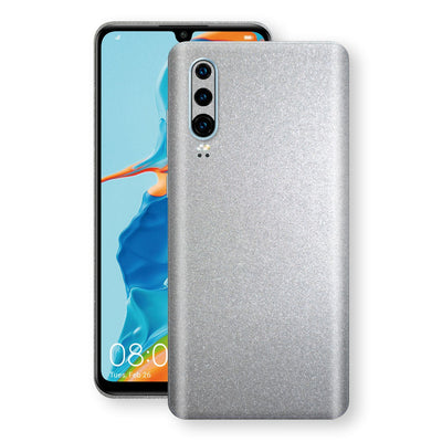 Huawei P30 Silver Glossy Metallic Skin, Decal, Wrap, Protector, Cover by EasySkinz | EasySkinz.com
