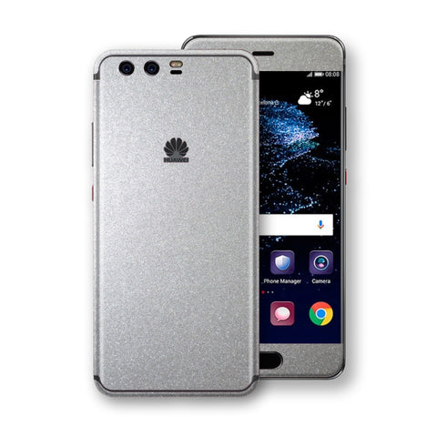 Huawei P10+ PLUS  Silver Glossy Metallic Skin, Decal, Wrap, Protector, Cover by EasySkinz | EasySkinz.com