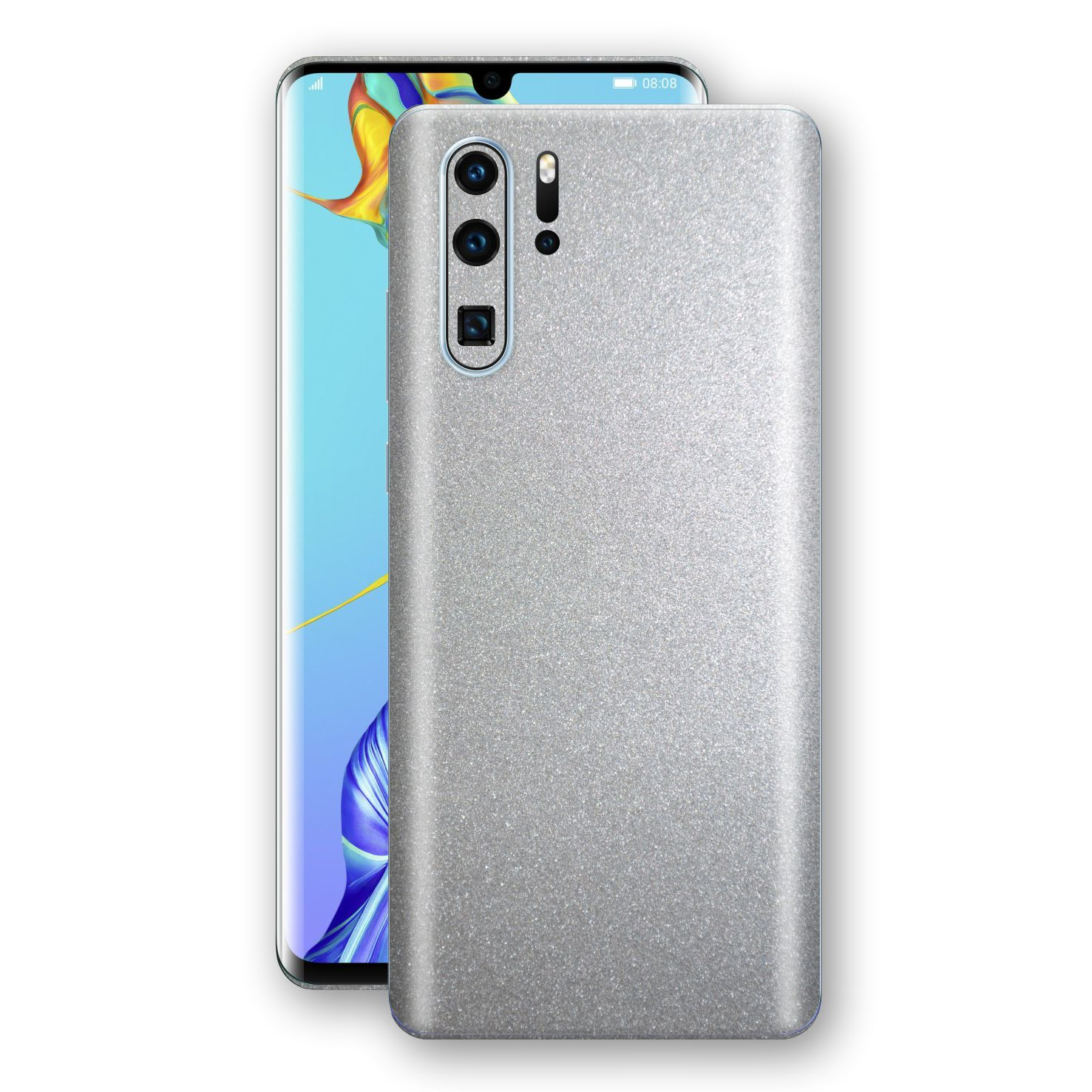 Huawei P30 PRO Silver Glossy Metallic Skin, Decal, Wrap, Protector, Cover by EasySkinz | EasySkinz.com