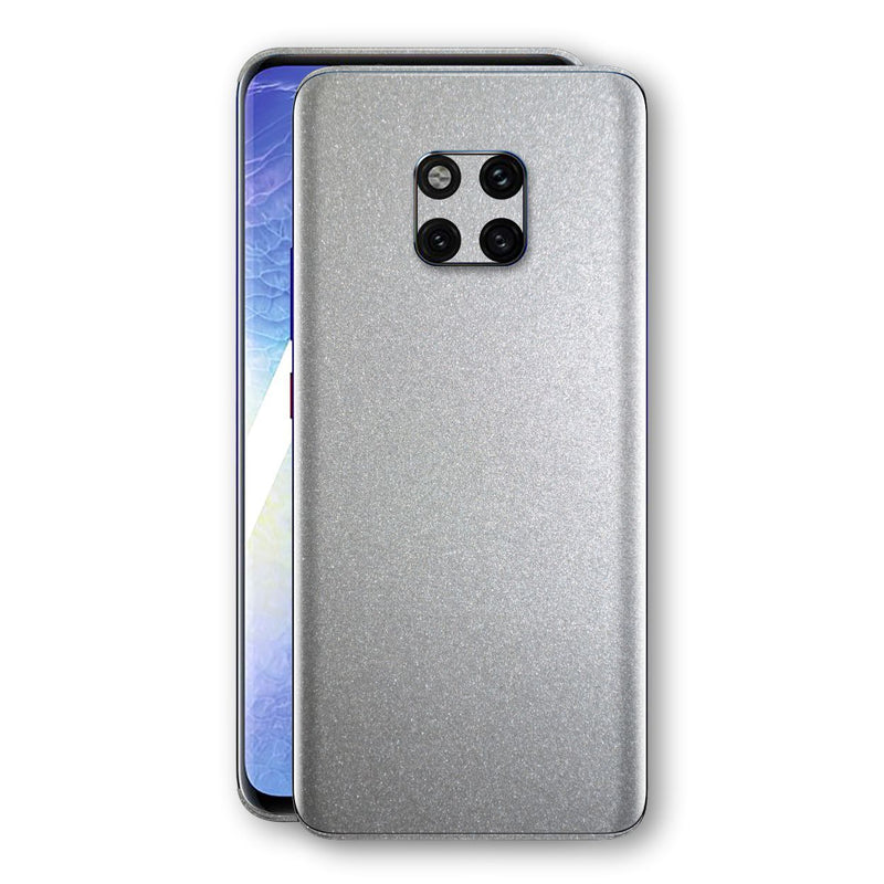 Huawei MATE 20 PRO Silver Glossy Metallic Skin, Decal, Wrap, Protector, Cover by EasySkinz | EasySkinz.com