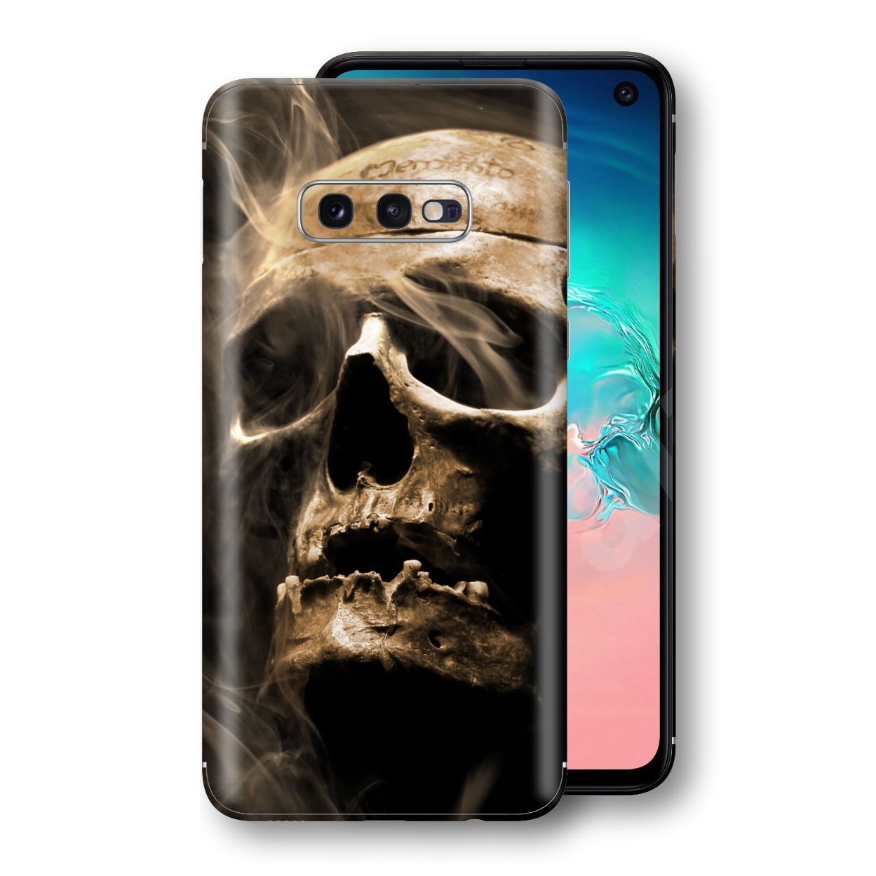 Samsung Galaxy S10e Print Custom Signature Voodoo Skull Skin Wrap Decal by EasySkinz
